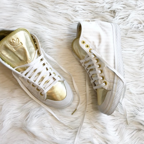 adidas superstar metallic gold white honey